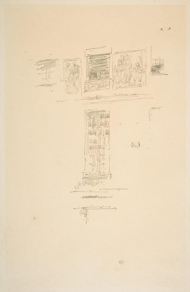 James Abbott McNeill Whistler, Hotel Colbert Windows, Canvas, James Abbott McNeill Whistler, kanvas tablo, canvas print sales