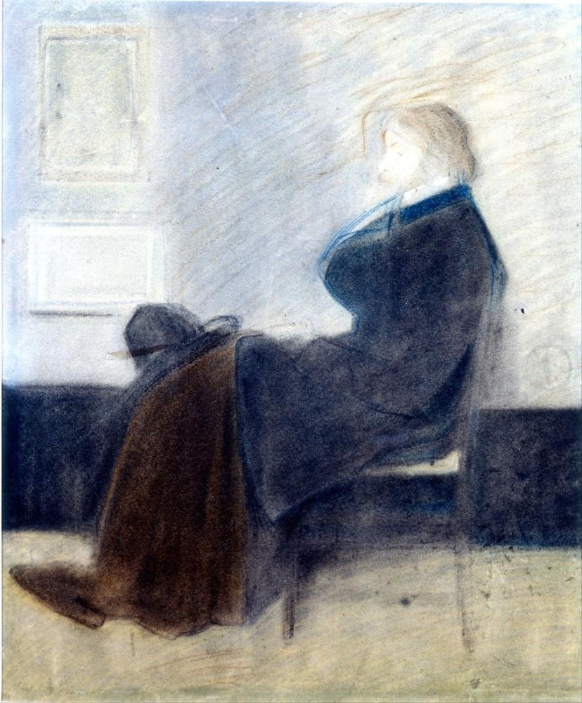 James Abbott McNeill Whistler, Thomas Carlyle nin James Çalışması, Figür, James Abbott McNeill Whistler, kanvas tablo, canvas print sales