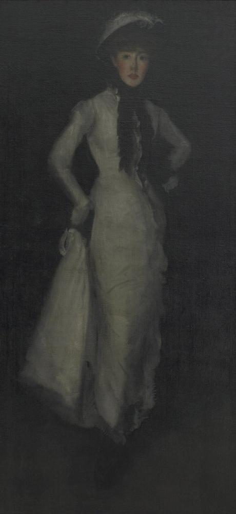 James Abbott McNeill Whistler, Beyaz ve Siyahta Aranjman, Kanvas Tablo, James Abbott McNeill Whistler, kanvas tablo, canvas print sales