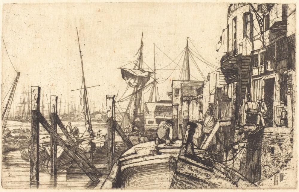 James Abbott McNeill Whistler, Limehouse, Canvas, James Abbott McNeill Whistler, kanvas tablo, canvas print sales