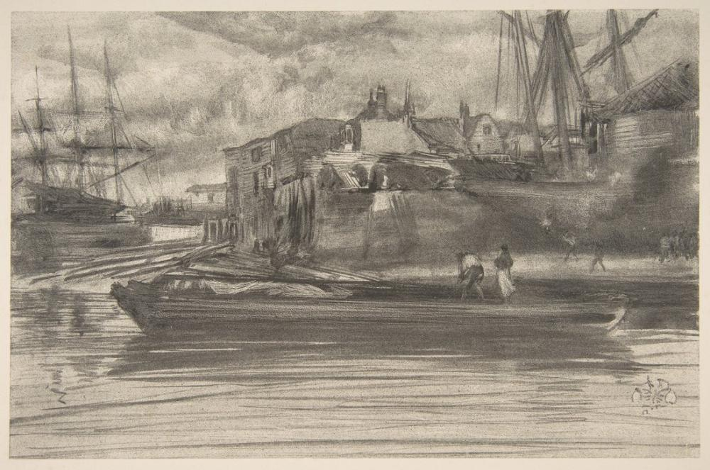 James Abbott McNeill Whistler, Limehouse II, Kanvas Tablo, James Abbott McNeill Whistler, kanvas tablo, canvas print sales