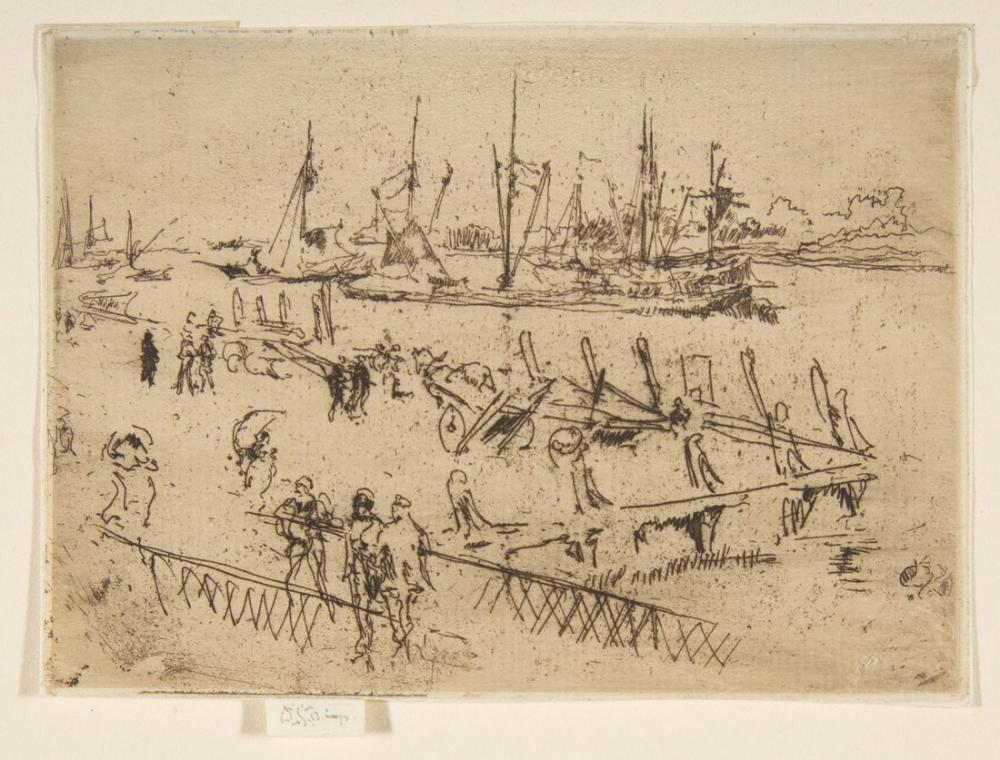 James Abbott McNeill Whistler, Little Dordrecht, Figure, James Abbott McNeill Whistler, kanvas tablo, canvas print sales