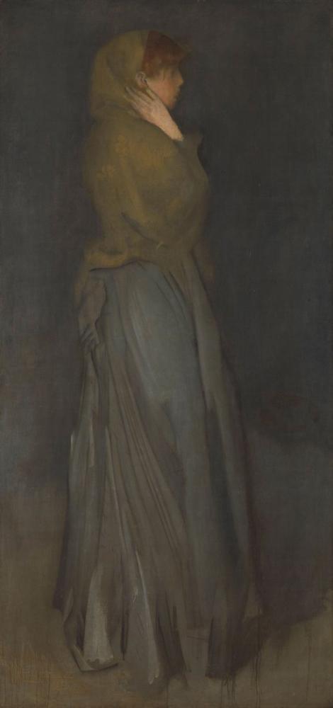 James Abbott McNeill Whistler, Sarı ve Gri Aranjman, Kanvas Tablo, James Abbott McNeill Whistler, kanvas tablo, canvas print sales