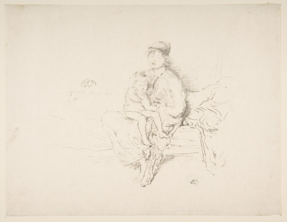 James Abbott McNeill Whistler, Anne ve Çocuk, Figür, James Abbott McNeill Whistler, kanvas tablo, canvas print sales