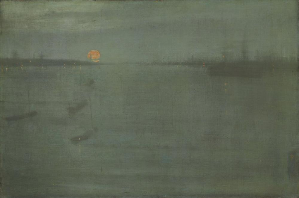James Abbott McNeill Whistler, Nocturne Gece Mavi ve Altın Southampton Su, Kanvas Tablo, James Abbott McNeill Whistler, kanvas tablo, canvas print sales