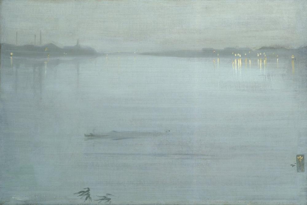James Abbott McNeill Whistler, Nocturne Mavi ve Gümüş, Kanvas Tablo, James Abbott McNeill Whistler, kanvas tablo, canvas print sales