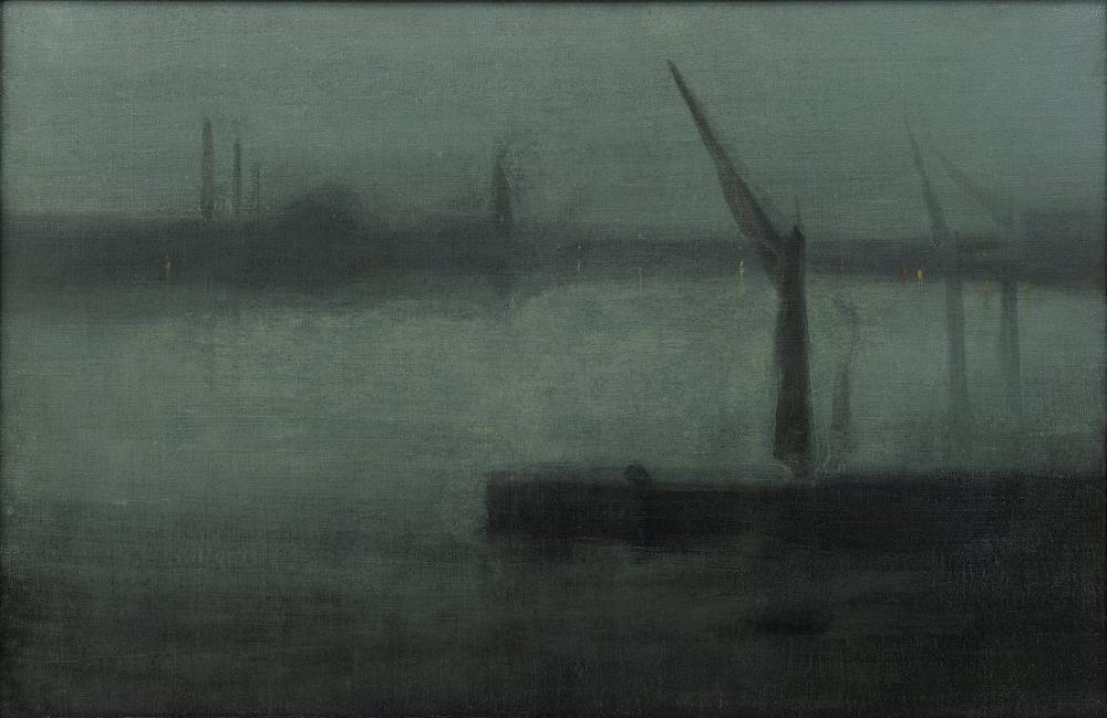James Abbott McNeill Whistler, Gece Mavi ve Gümüş Battersea Reach, Kanvas Tablo, James Abbott McNeill Whistler, kanvas tablo, canvas print sales