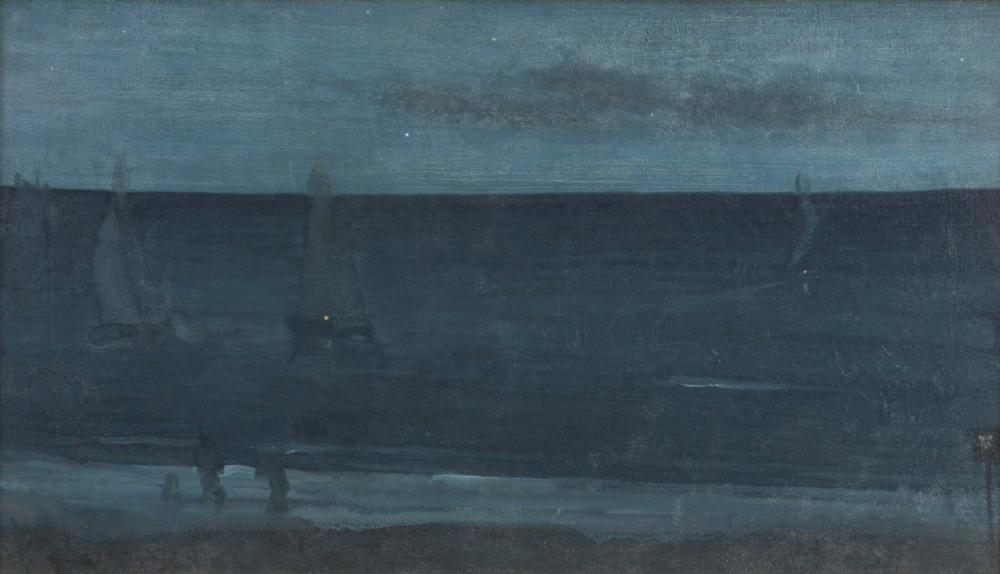 James Abbott McNeill Whistler, Nocturne Blue and Silver Bognor, Canvas, James Abbott McNeill Whistler, kanvas tablo, canvas print sales