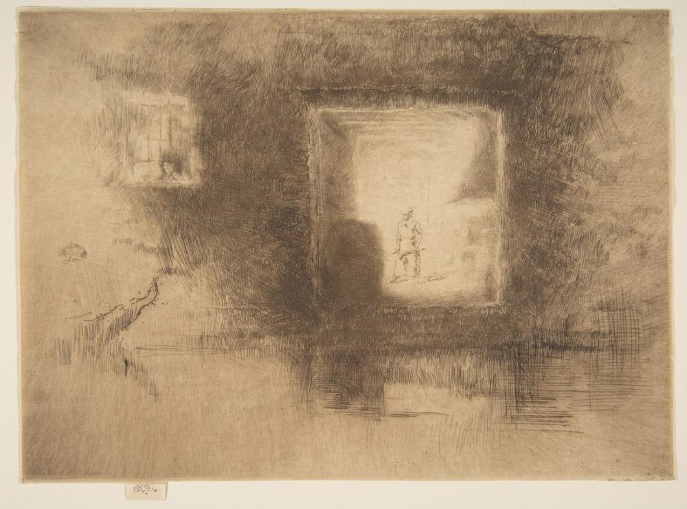 James Abbott McNeill Whistler, Nocturne Furnace, Figure, James Abbott McNeill Whistler, kanvas tablo, canvas print sales