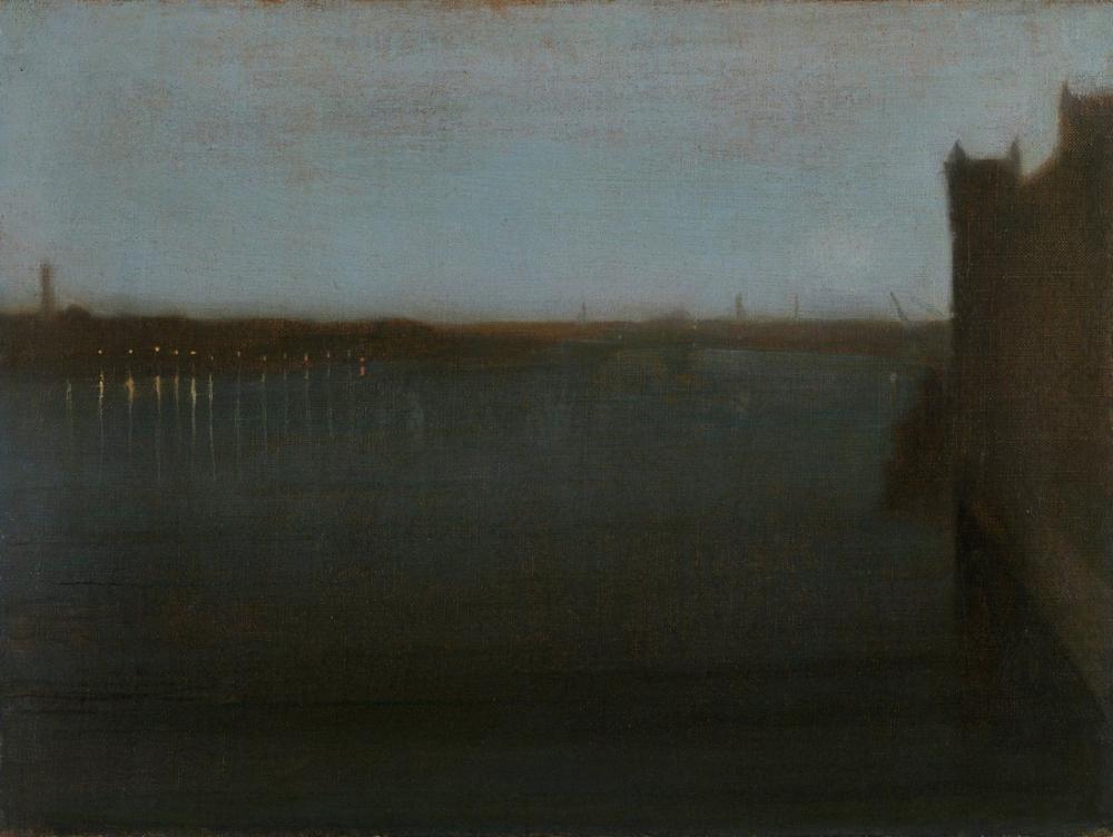 James Abbott McNeill Whistler, Gece Manzarası Gri ve Altın, Kanvas Tablo, James Abbott McNeill Whistler, kanvas tablo, canvas print sales