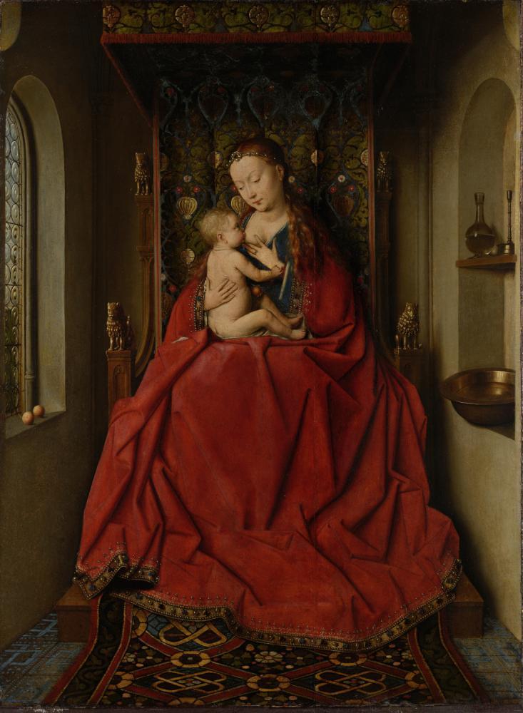 Jan van Eyck Lucca Madonna, Canvas, Jan van Eyck, kanvas tablo, canvas print sales