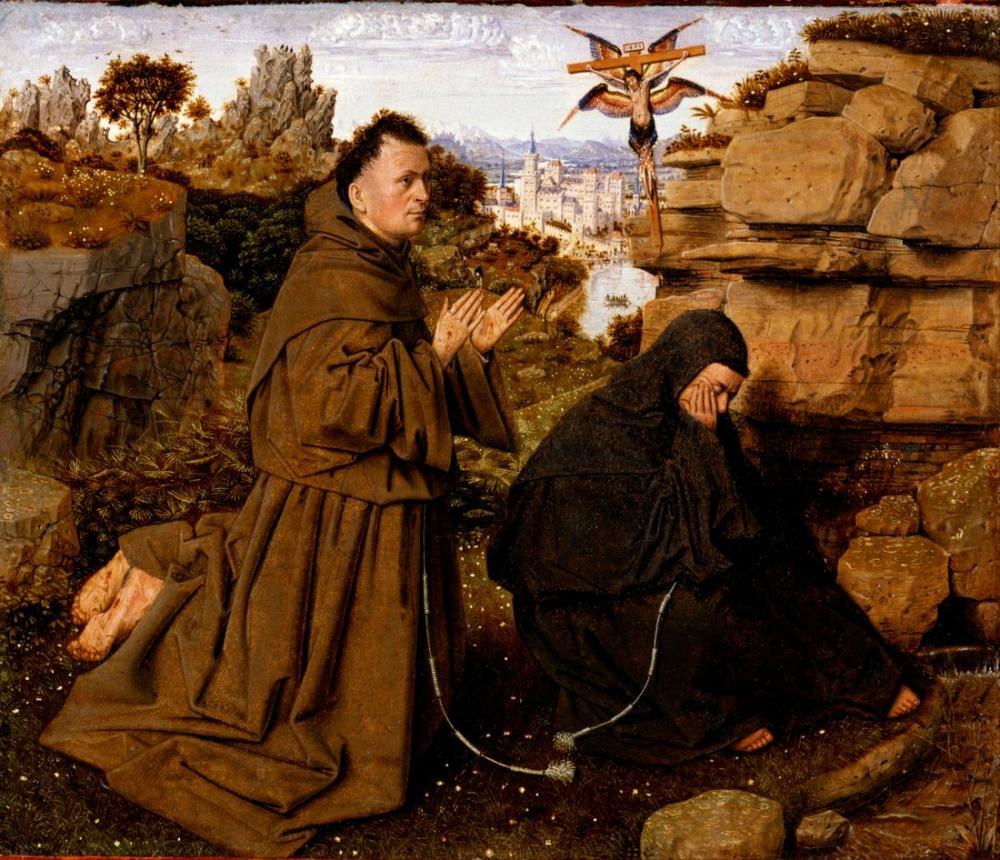 Jan van Eyck Saint Francis Of Assisi Receiving The Stigmata, Canvas, Jan van Eyck, kanvas tablo, canvas print sales