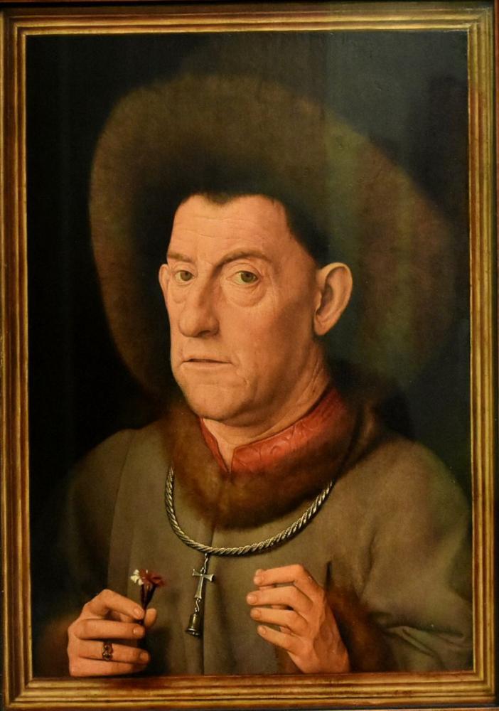 Jan van Eyck Man With A Carnation, Canvas, Jan van Eyck, kanvas tablo, canvas print sales