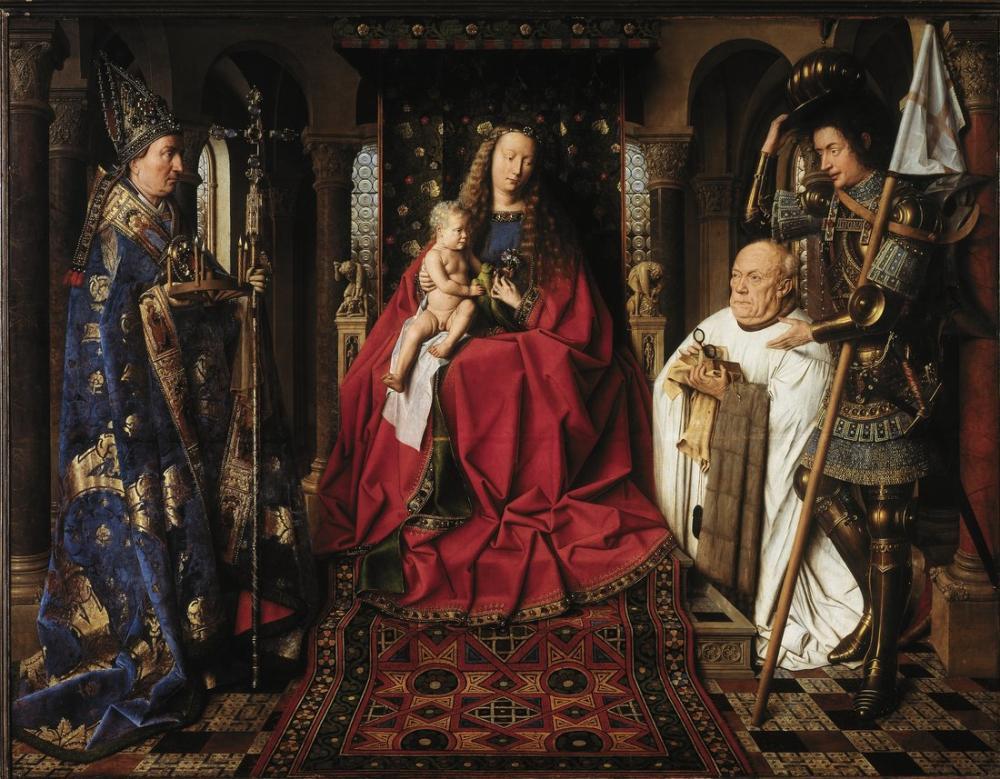 Jan van Eyck Mary Kilisede, Kanvas Tablo, Jan van Eyck, kanvas tablo, canvas print sales