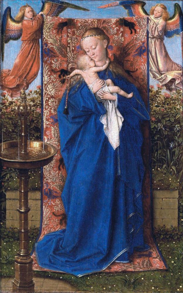 Jan van Eyck Çeşmede Madonna Ve Çocuk, Kanvas Tablo, Jan van Eyck, kanvas tablo, canvas print sales