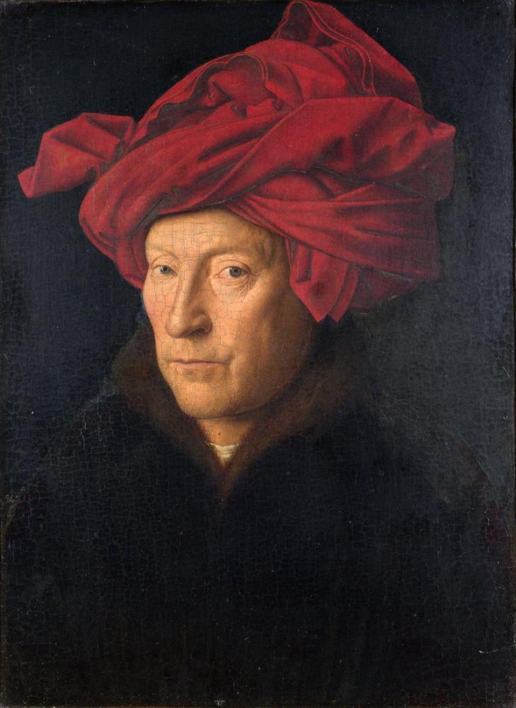 Jan van Eyck Autoportrait, Canvas, Jan van Eyck, kanvas tablo, canvas print sales