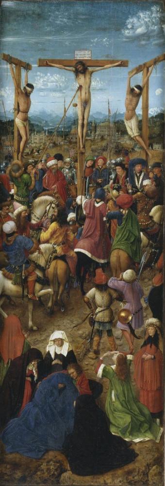 Jan van Eyck Çarmıha Gerilme Son Yargı I, Kanvas Tablo, Jan van Eyck, jve17