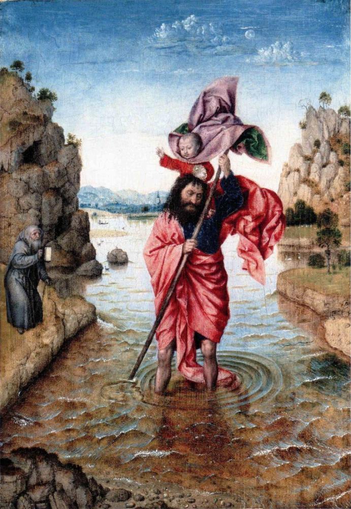 Jan van Eyck Aziz Christopher, Kanvas Tablo, Jan van Eyck, kanvas tablo, canvas print sales