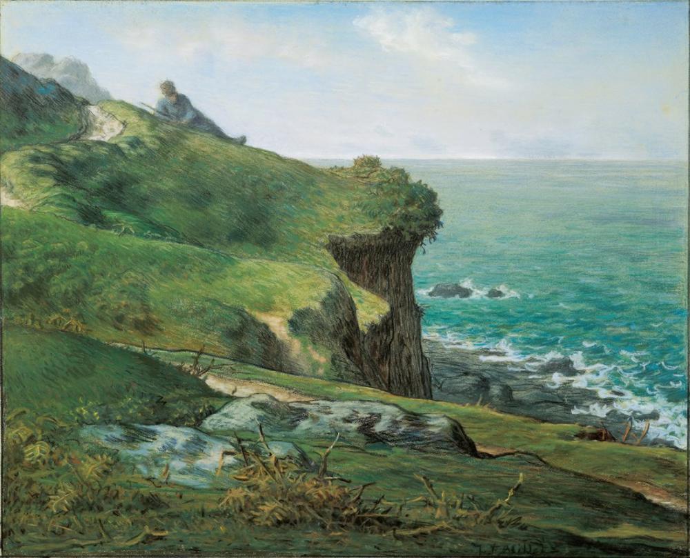Jean François Millet Cliffs Of Greville, Canvas, Jean François Millet, kanvas tablo, canvas print sales