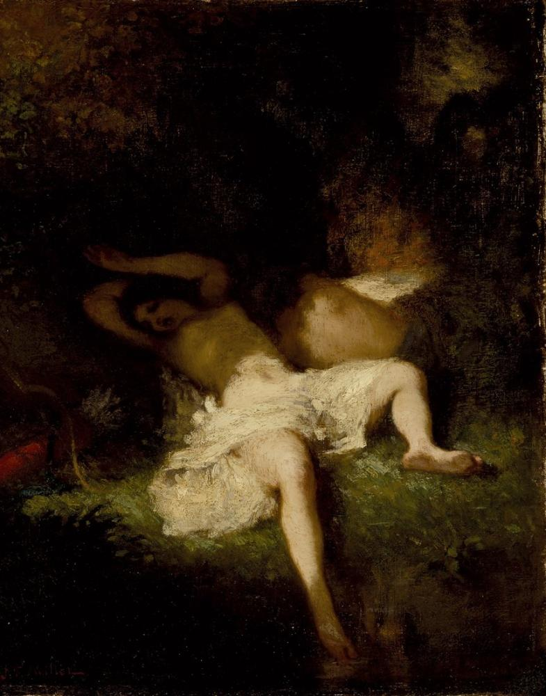 Jean François Millet Diana Resting, Canvas, Jean François Millet, kanvas tablo, canvas print sales