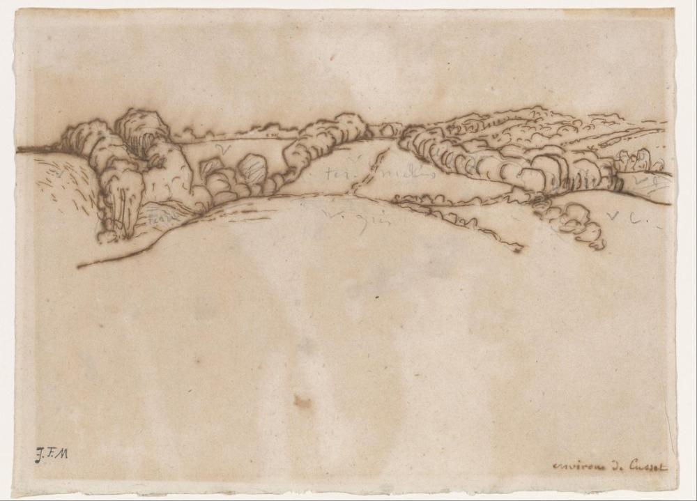 Jean François Millet Kusset Çevresi, Kanvas Tablo, Jean François Millet, kanvas tablo, canvas print sales