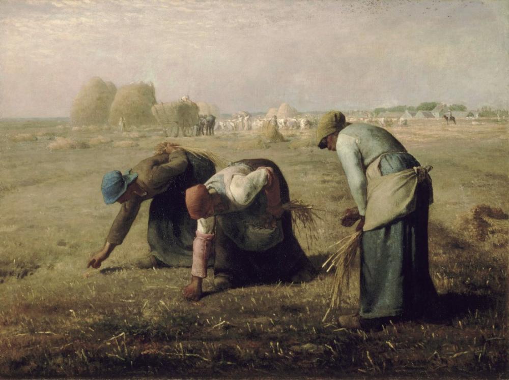 Jean François Millet Gleaners, Canvas, Jean François Millet, kanvas tablo, canvas print sales