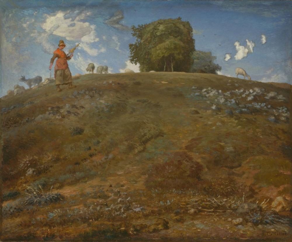 Jean François Millet In The Auvergne, Canvas, Jean François Millet, kanvas tablo, canvas print sales