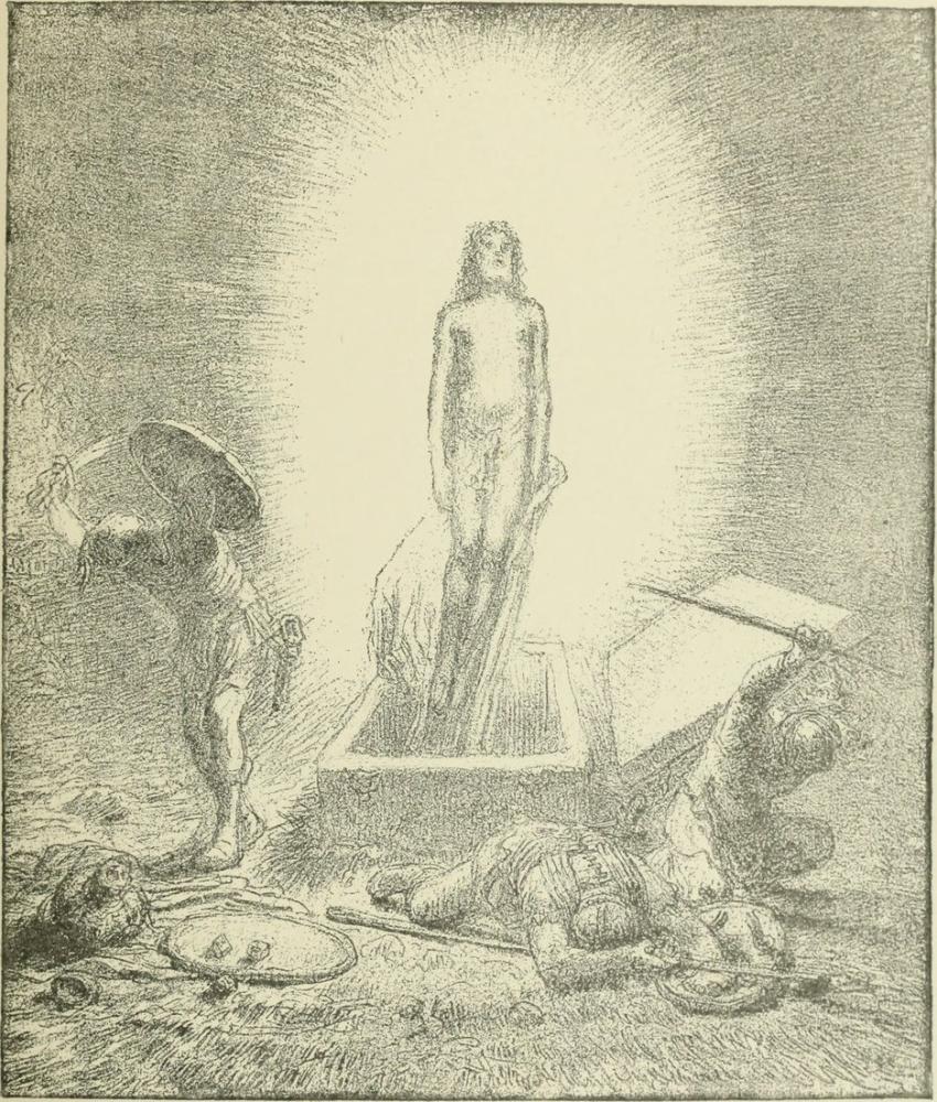 Jean François Millet Bir Eskiz, Kanvas Tablo, Jean François Millet, kanvas tablo, canvas print sales