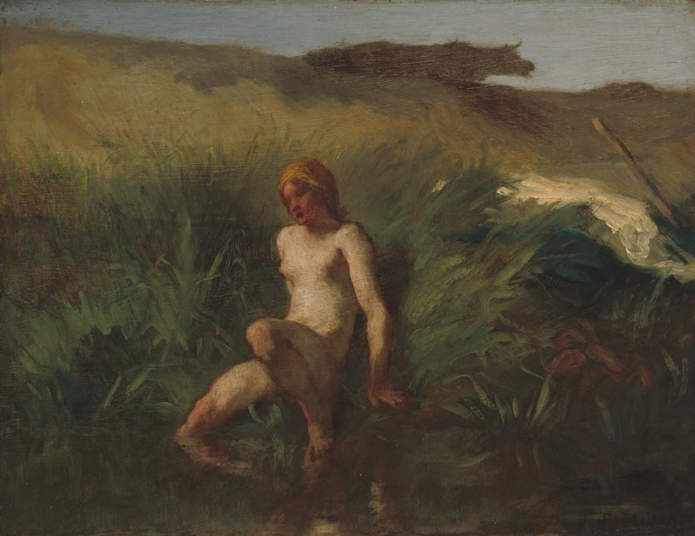 Jean François Millet The Bather, Canvas, Jean François Millet, kanvas tablo, canvas print sales