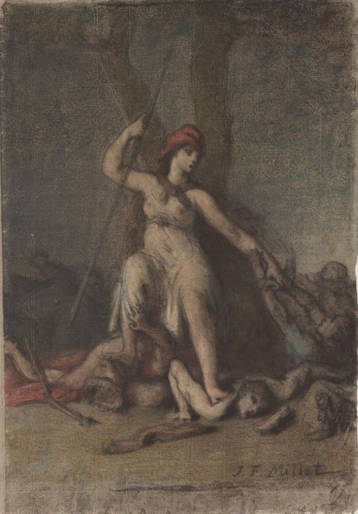 Jean François Millet Liberty, Canvas, Jean François Millet, kanvas tablo, canvas print sales