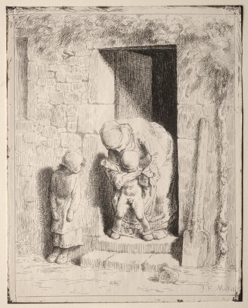 Jean François Millet Anne Önlemleri, Kanvas Tablo, Jean François Millet, kanvas tablo, canvas print sales