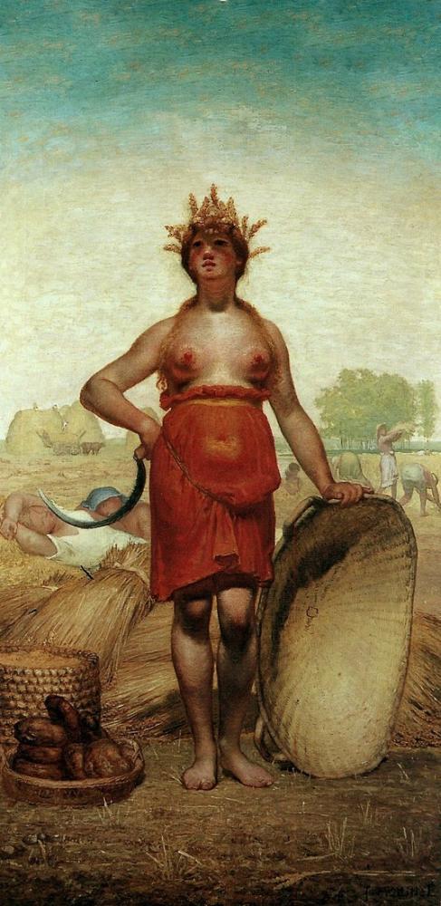 Jean François Millet Myth Of Demeter, Canvas, Jean François Millet, kanvas tablo, canvas print sales