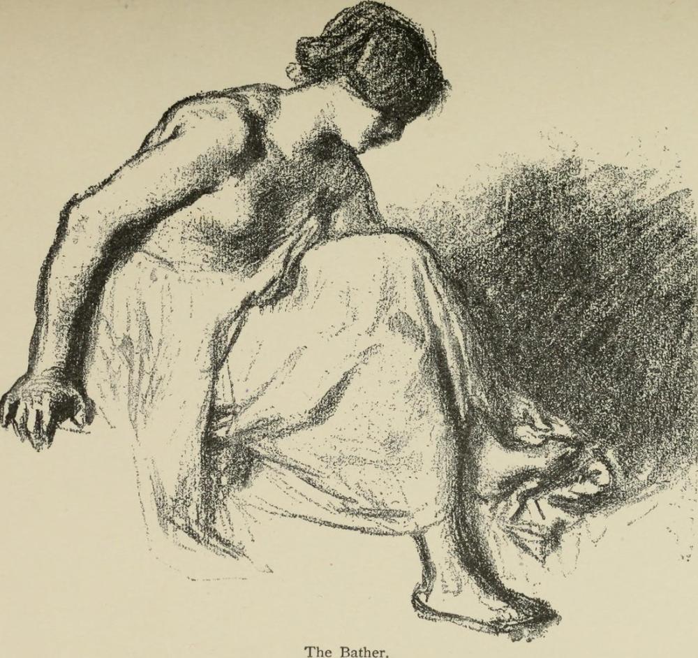 Jean François Millet Bir Kadın, Kanvas Tablo, Jean François Millet, kanvas tablo, canvas print sales