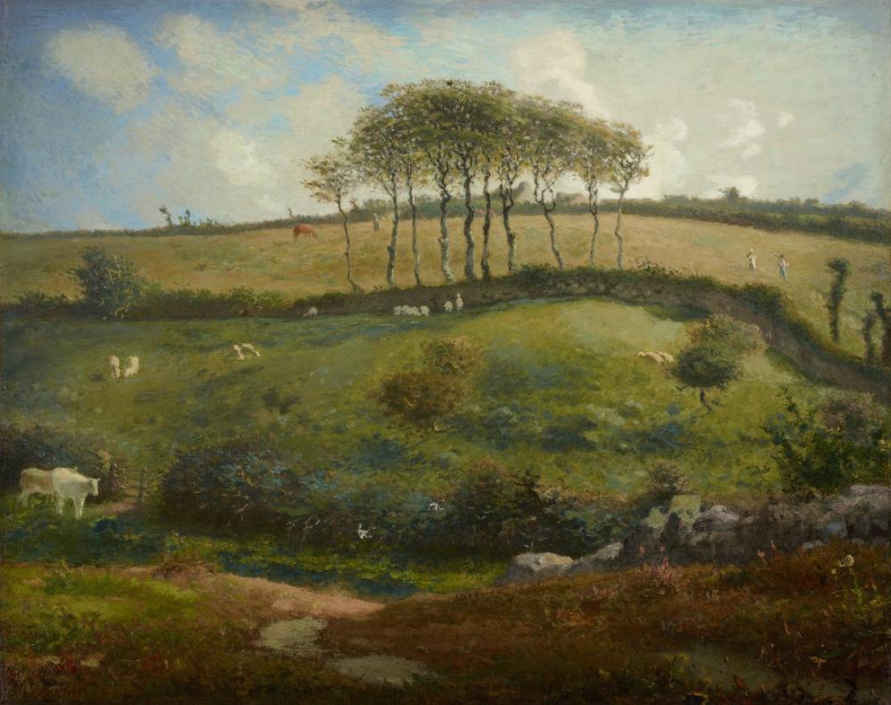 Jean François Millet Cherbourg Yakınındaki Mera, Kanvas Tablo, Jean François Millet, kanvas tablo, canvas print sales