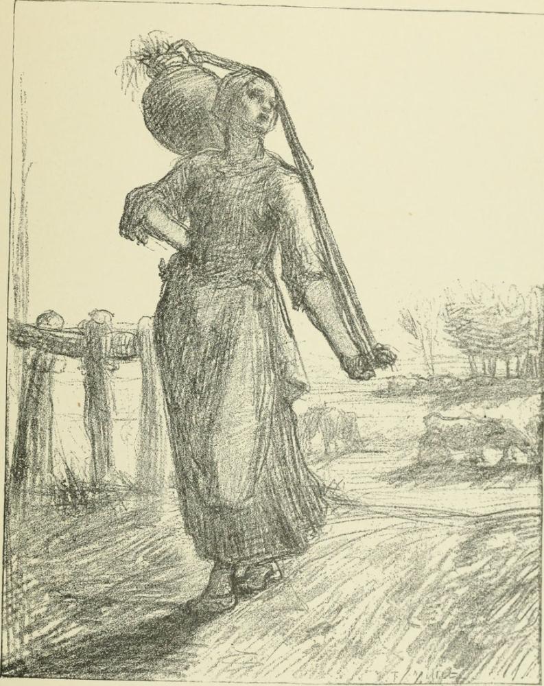 Jean François Millet Peasant II, Canvas, Jean François Millet, kanvas tablo, canvas print sales