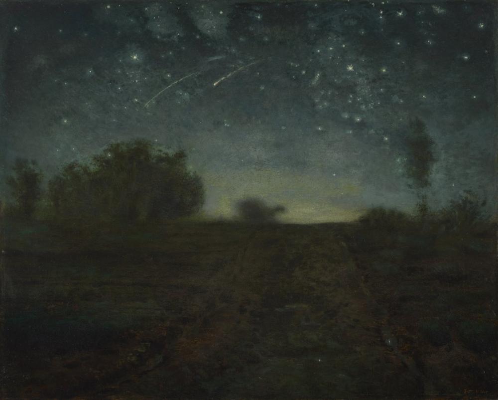 Jean François Millet Yıldızlı Gece, Kanvas Tablo, Jean François Millet, kanvas tablo, canvas print sales