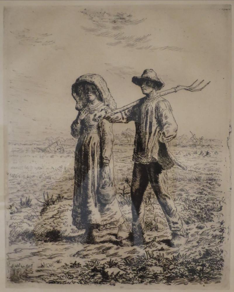 Jean François Millet İşe Ayrılma, Kanvas Tablo, Jean François Millet, kanvas tablo, canvas print sales