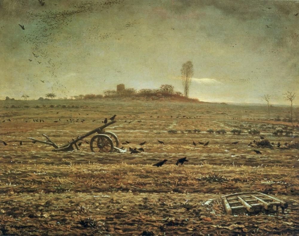 Jean François Millet The Plain Of Chailly With Harrow And Plough, Canvas, Jean François Millet, kanvas tablo, canvas print sales