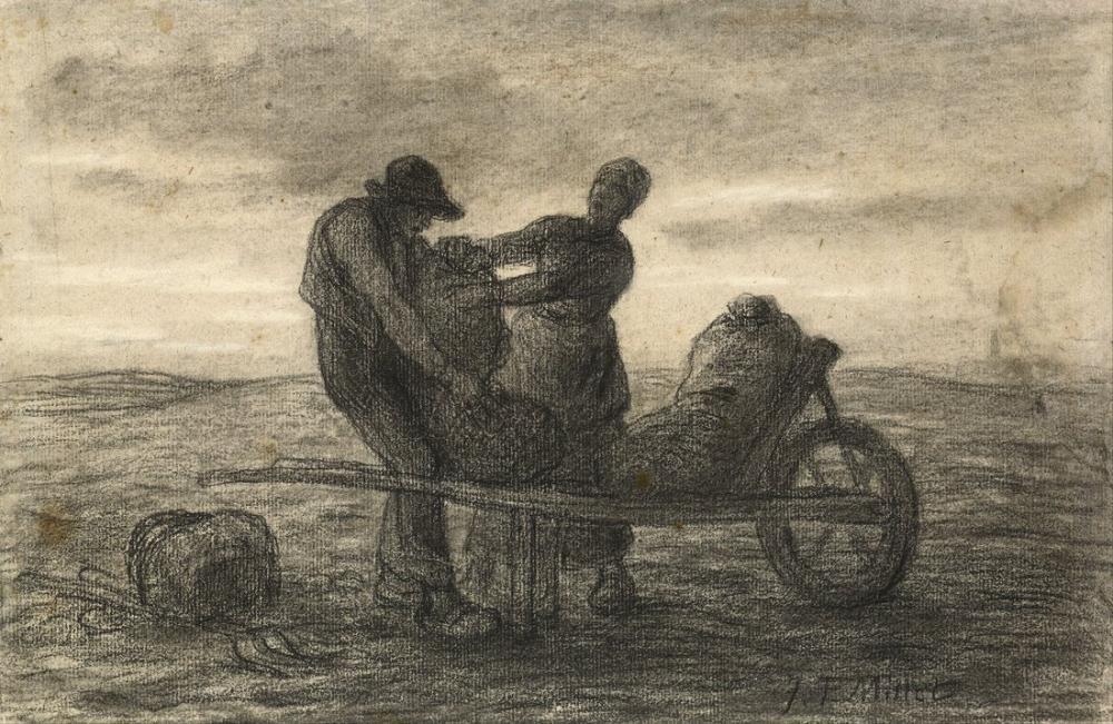 Jean François Millet The Potato Harvest, Canvas, Jean François Millet, kanvas tablo, canvas print sales