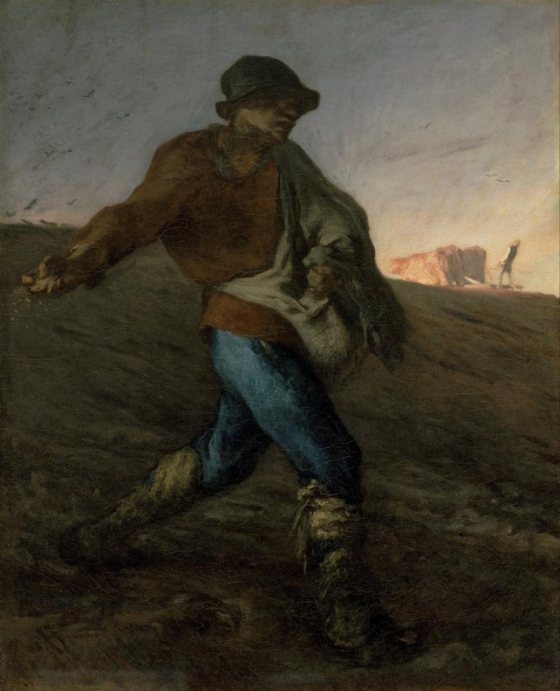 Jean François Millet The Sower, Canvas, Jean François Millet, kanvas tablo, canvas print sales