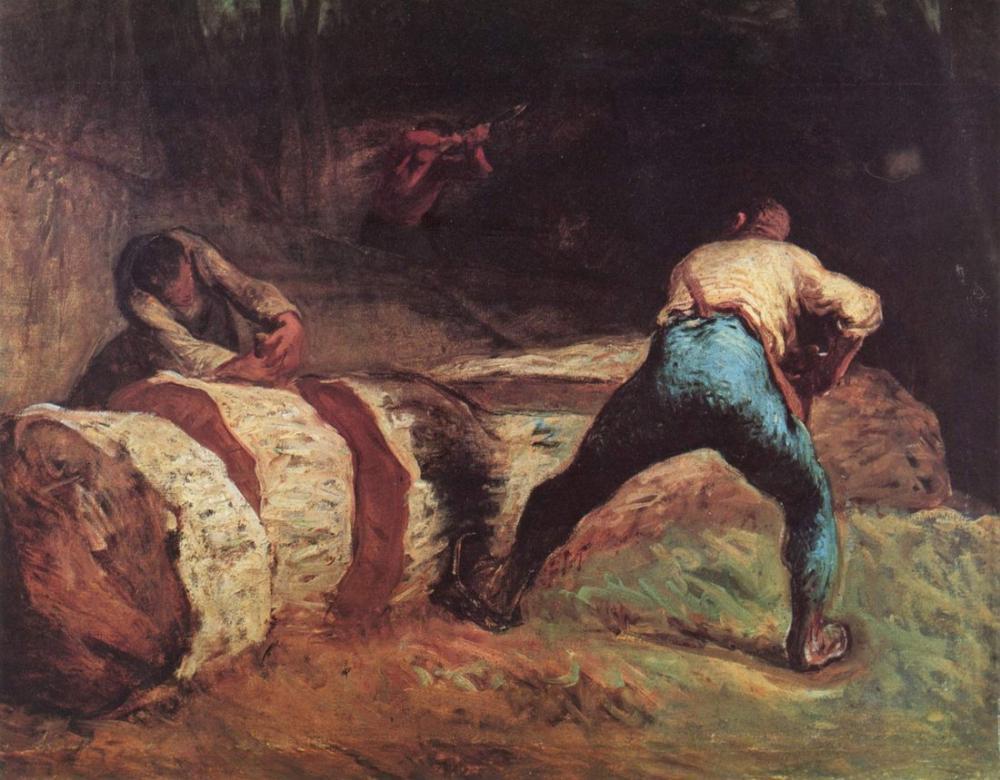 Jean François Millet  Ahşap Testereleri, Kanvas Tablo, Jean François Millet, kanvas tablo, canvas print sales