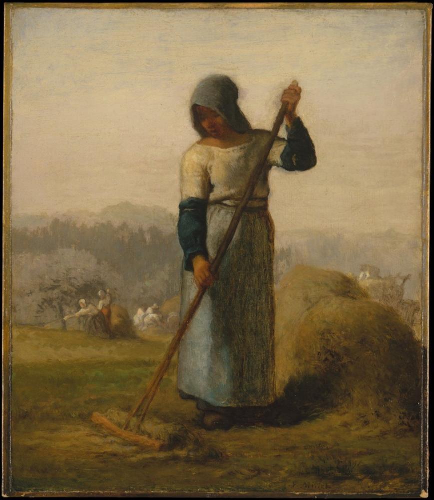 Jean François Millet Woman With A Rake, Canvas, Jean François Millet, kanvas tablo, canvas print sales
