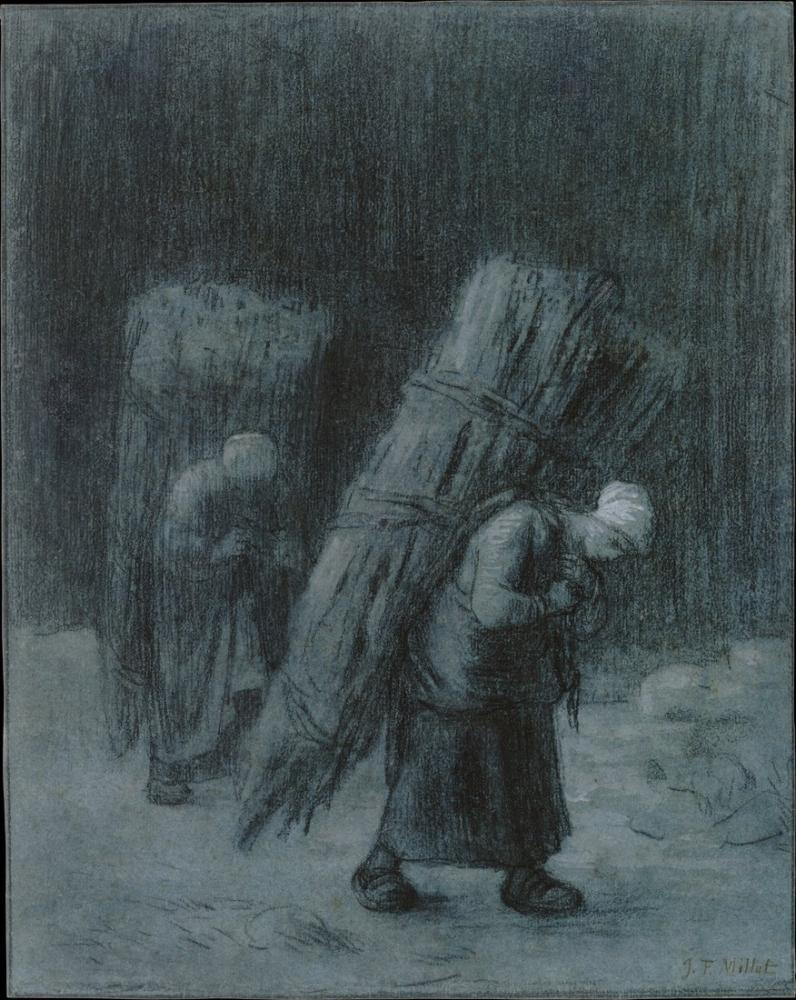 Jean François Millet Women Carrying Faggots, Canvas, Jean François Millet, kanvas tablo, canvas print sales