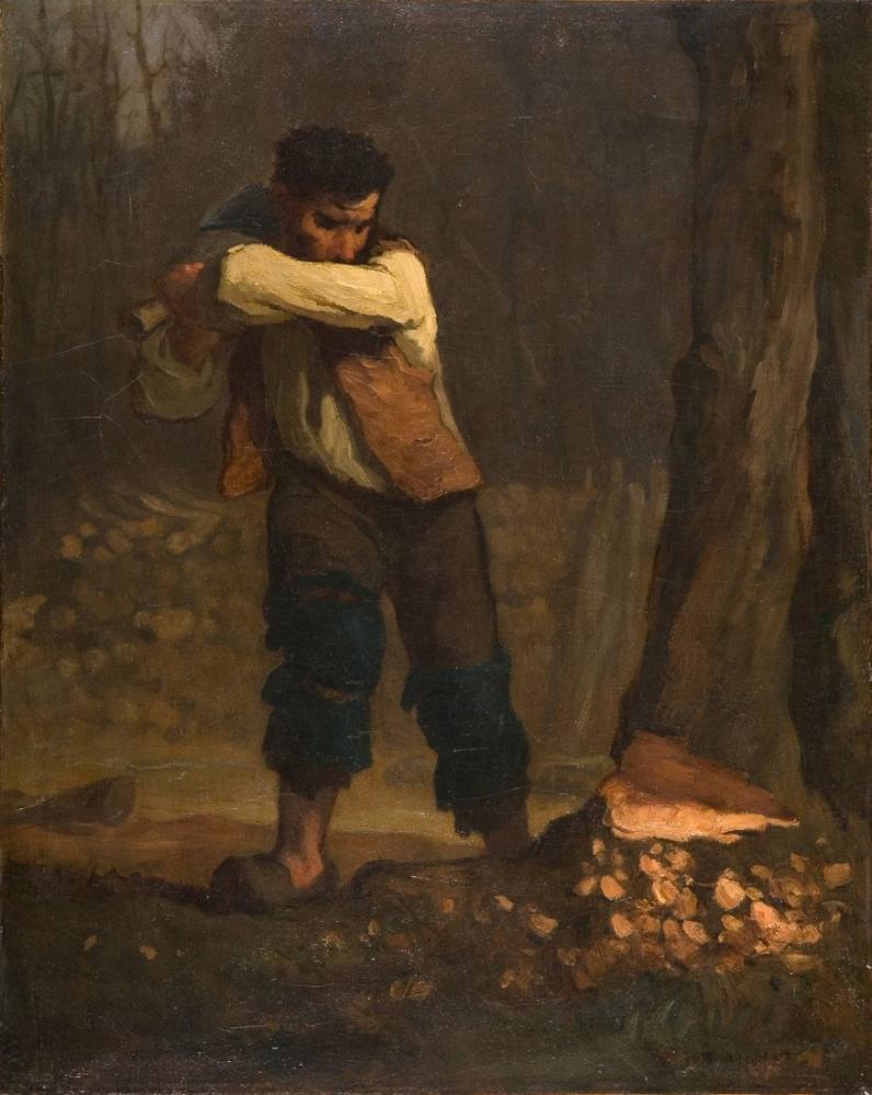 Jean François Millet Woodcutter, Canvas, Jean François Millet, kanvas tablo, canvas print sales
