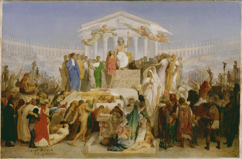 Jean Leon Gerome Augustus Çağı Mesih Doğuşu, Kanvas Tablo, Jean-Léon Gérôme, kanvas tablo, canvas print sales