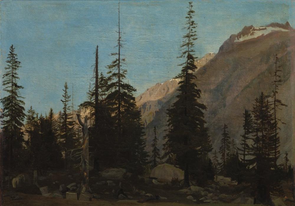 Jean Leon Gerome Alpine Manzara Handegg İsviçre, Kanvas Tablo, Jean-Léon Gérôme, kanvas tablo, canvas print sales