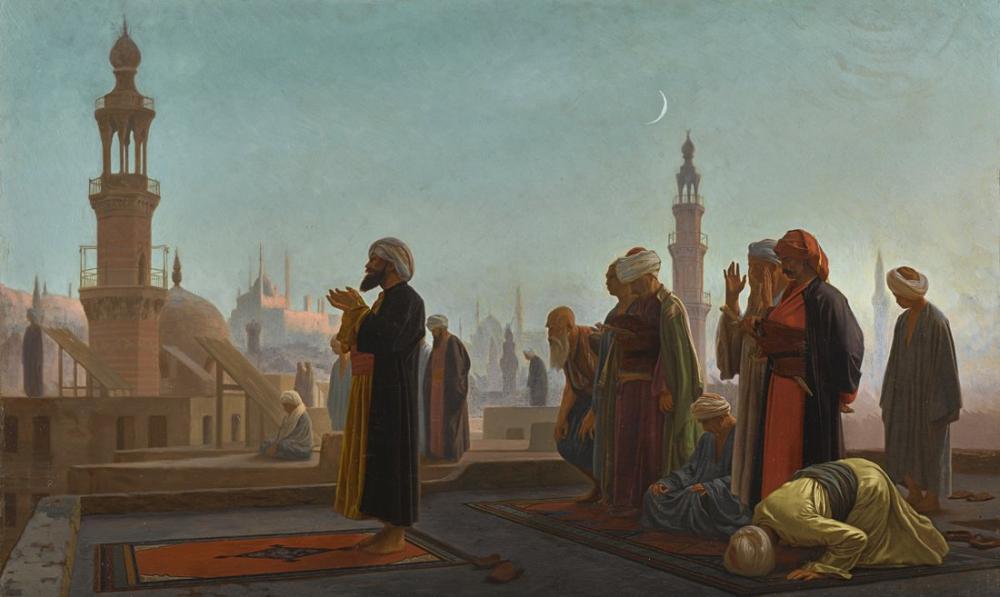 Jean Leon Gerome Evening Pray, Orientalism, Jean-Léon Gérôme, kanvas tablo, canvas print sales