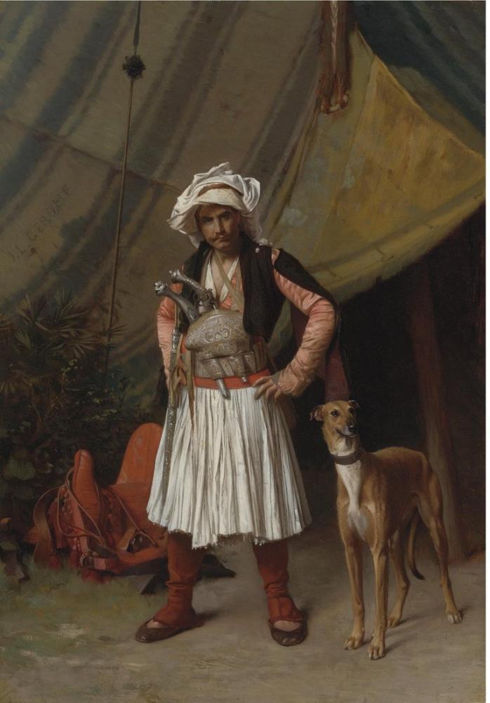 Jean Leon Gerome Bir Arnaut, Oryantalizm, Jean-Léon Gérôme, kanvas tablo, canvas print sales