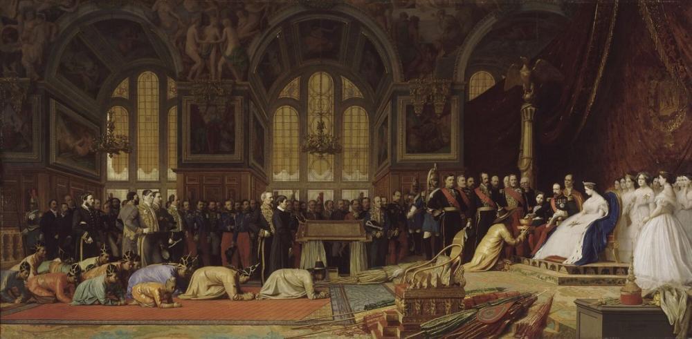 Jean Leon Gerome Siyam Büyükelçilerinin Resepsiyonu Fontainebleau, Kanvas Tablo, Jean-Léon Gérôme, kanvas tablo, canvas print sales