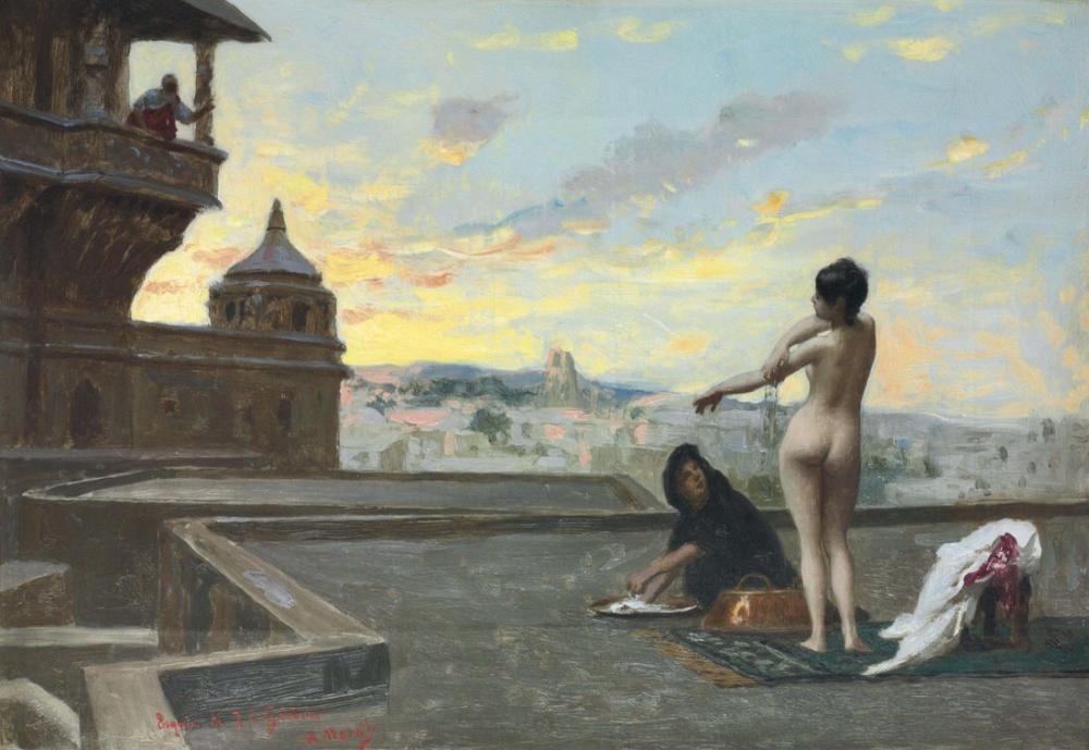 Jean Leon Gerome Bethsabee İçin Çalışma, Oryantalizm, Jean-Léon Gérôme, kanvas tablo, canvas print sales